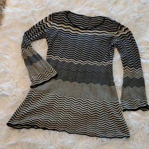 Long sleeve Sweater Dress w/flare sleeves - 2X